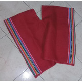 Poncho Arpillera Rojo Coya