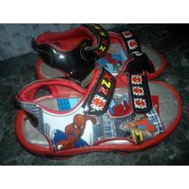 Sandalias Zapatillas Del Hombre Araña Con Luz Importadas