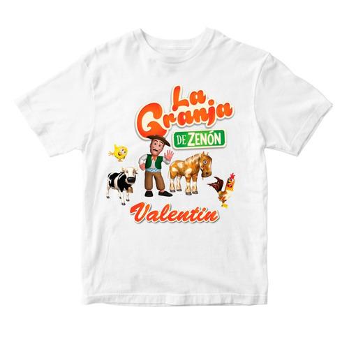 5473d20c0d023 Remera Niño Granja De Zenon Vaca Lola Pollito Gallo Nombre en venta ...