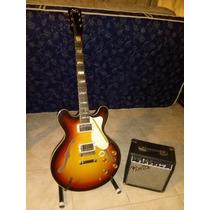 Guitarra Gracia Ag Luthier Y Amplificador Fender 10g