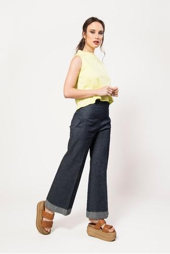 Jeans Mujer Pantalón Pata Ancha Elastizado Tiro Alto Giacca. Precio    1790  Ver en MercadoLibre 4f3c3147e904