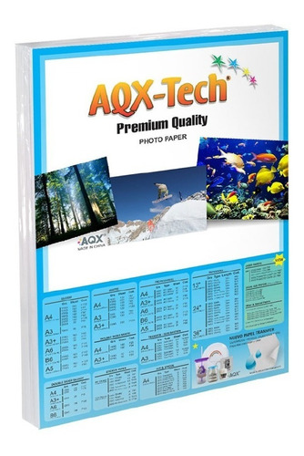 Papel Autoadhesivo Fotografico A4 Glossy Sticker 100 Hojas Aqx