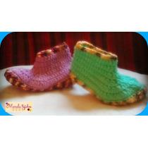 Botitas Tejidas A Crochet Para Niños