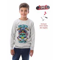 Buzo De Frisa Con Mini Skate De Regalo Pecosos