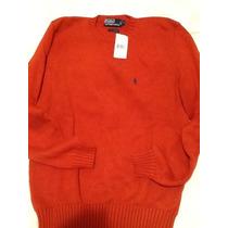 Sweater Polo Ralph Laurent, Nuevo!!! Color Medio Naranja