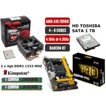 Kit Actualizacion Amd A10 7890 Radeon R7 + A68md +8gb + 1tb