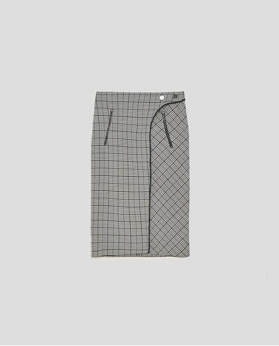 Zara Falda Cuadros Contraste Talle M Ref 1165-159. Precio    1158 08 Ver en  MercadoLibre b671c3444c61