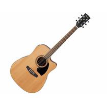 Guitarra Acustica Pf17ece Lg Natural Ibanez
