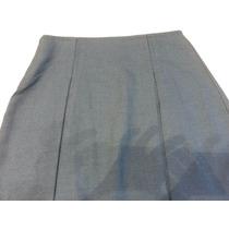 Pollera Escolar Sarga Gris/azul T.16 Casa Suery