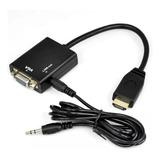 Conversor Hdmi A Vga Con Audio 1080p Full Hd Cable Adaptador