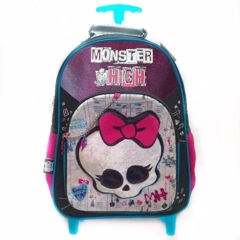 87090dc27 Mochila Con Carro Monster High 16 Pulgadas Cresko Dm509