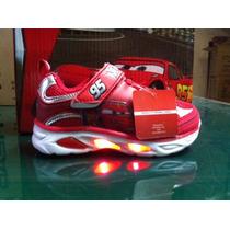 Zapatillas Disney Niño Cars Con Luces