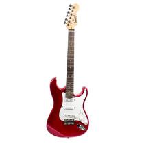 Guitarra Electrica Leonard Tipo Stratocaster Le363 Niño Roja