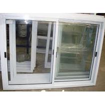 Ventana De Aluminio Blanco,vidrio Entero 4 Mm De 150x110