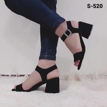 520276ba Zapatos Mujer Sandalia Taco Bajo Gamuza Art S-520 en venta en Flores ...