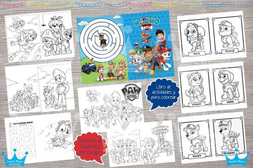 Paw Patrol Libros Para Colorear Personalizados Souvenirs - $ 28 en ...