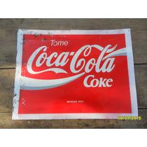 Antiguo ?? Cartel De Coca Cola Coke En Chapa