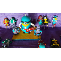 Souvenirs En Porcelana Fria Minions Super Heroes