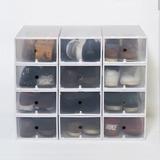 Organizador De Zapatos Pack 12 Hasta Talle 44 Transparente