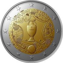 Francia Moneda Bimetalica 2 Euro Año 2016 Futbol Uefa
