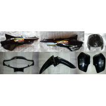 Kit Plasticos Honda Biz 105 Negra Original 7 Piezas - 2r