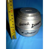 1 Juguete Aluminio Alcancia Barril Salud Dinero Amor Retro