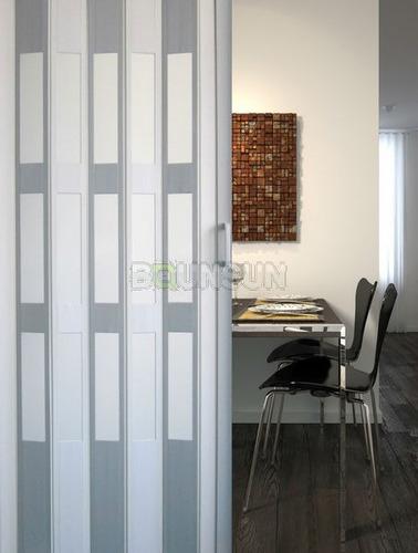 Puertas plegadizas super reforzadas pvc a medida - Fabrica de puertas plegables ...