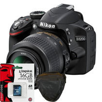 Nikon D3200 18-55mm Vr Kit+ Sd 16gb Clase 10+ Bolso+ Regalos