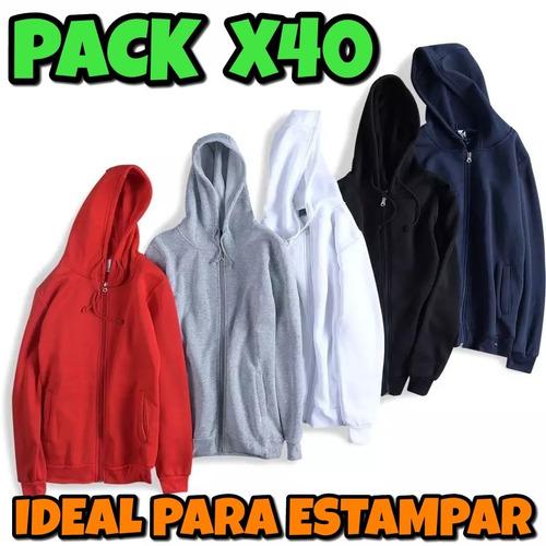 Pack X40 Buzo Camperita Hoodie De Frisa Cn Capucha Estampar ef79432c9