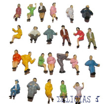 Lote De 25 Personas / Personajes Sentados Escala Ho 1:100