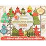 Kit Imprimible 12 Arbolitos Navidad Colgantes Decoraciòn 3x1