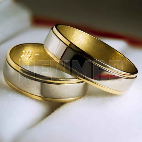 0a39978f3da5 Par Alianzas Oro 18k 7gr Bicolor Boda Casamiento 6 Cuotas