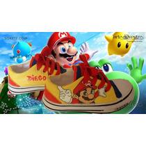 Zapatillas Pintadas/customizadas Personalizadas Mario Bross