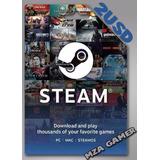 Tarjeta Steam Wallet 2usd [compra Juegos Originales]