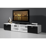 Rack Tv Mesa De Tv Mueble Led Modular Moderno Para Televisor Living / Dormitorio Módulo Bajo - Benedit Muebles