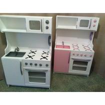 Juego De Cocina Infantil De Madera - Cocineta Integrada