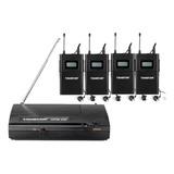Sistema Monitoreo Inalámbrico Takstar Wpm-200 Para 4 Uhf 6p