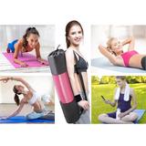 Colchoneta Mat 4 Mm Yoga Pilates Enrollable Gym + Bolso