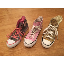 Zapatillas Converse All Stars - Lote 3 Pares Talle 36 1/2-37
