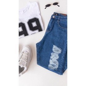 Jeans Mom Roturas Mujer 6825647f2095