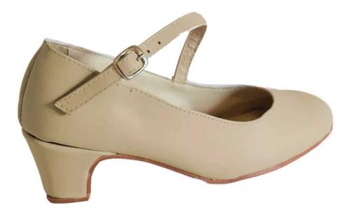 ecd8fd27 Zapatos De Folklore, Español, Danza En Cuero Crema