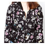 Campera Eleven Paris Original Reversible Flores Y Negro