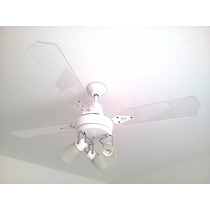 Lu-ce´s Ventilador De Techo Blanco Palas Acrilico + 3 Luces