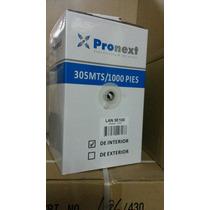 Rollo Cable Utp Lan5e100 Pronext Para Interior Caja 305mts