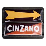 Cartel De Chapa Cinzano Bombe 15x40cm