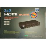 Splitter Hdmi 8 Salidas V1.4 3d 1080p Full Hd Incluye Fuente