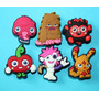 Moshi Monsters Jibbitz Pins Para Crocs Y Sandalias 6 X $49
