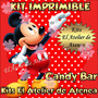 Kit Imprimible Candy Bar Golosinas Mickey Mouse Rojo Y Negro