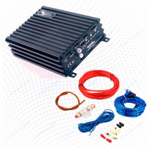 Combo + Potencia Soundmagus Dk600 Monoblock Mini + Kit 4 Ga
