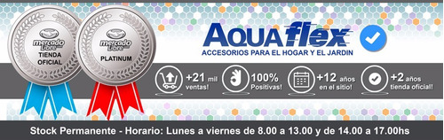 Manguera Riego 10 Bar 1/2 X 20mts Man1220 + H4612 Aquaflex
